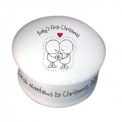 Chilli & Bubble's Baby's First Christmas Trinket Box