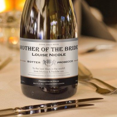 Contemporary Wedding Personalised Prosecco