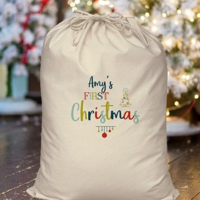 My First Christmas Cotton Sack