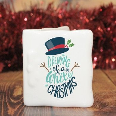 White Christmas Message Card